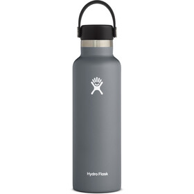 Hydro Flask Standard Mouth Drinkfles met standaard Flex Cap 621ml, stone